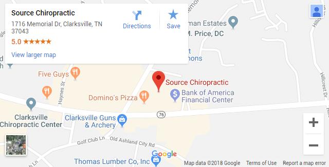 Chiropractic Map Clarksville TN